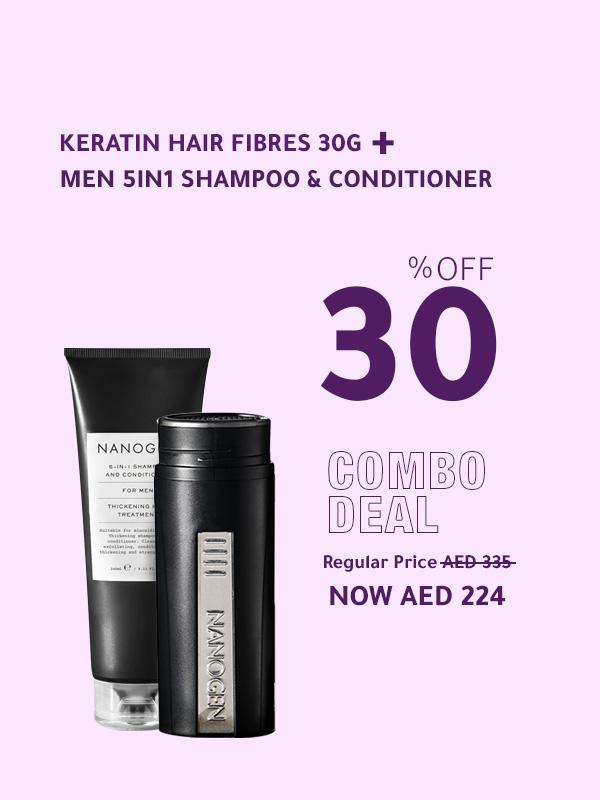 Men 5in1 Shampoo + Keratin Hair Fibres 30g